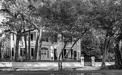 Rocking Chairs Photograph - Sweet Home New Orleans - Watching The World Go By - Bw by Steve Harrington