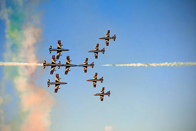 Airshow Flight Photograph - Sweet Kisses by Gyula Szabo
