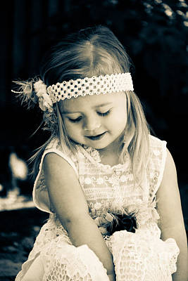 Little Girl Photograph - Sweet Lacy Dream by Ava Peterson