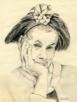 Drawing - Sweet Lady by Rich Travis