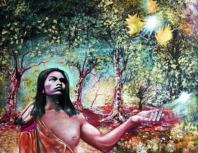 Mystical Landscape Painting - Sweet Leaf by Gordon Behr