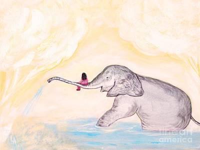 Painting - Sweet Little Ellie by Leslie Allen