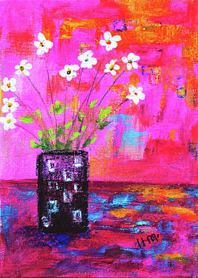 Painting - Sweet Little Flower Vase by Haleh Mahbod