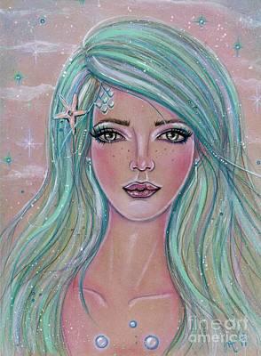 Painting - Sweet Little Mermaid by Renee Lavoie