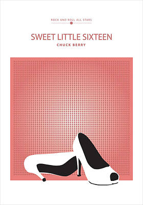 Digital Art - Sweet Little Sixteen -- Chuck Berry by David Davies