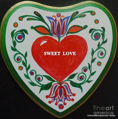 Painting - Sweet Love by Anna Folkartanna Maciejewska-Dyba