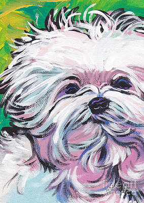 Maltese Painting - Sweet Maltese  by Lea S