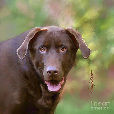 Chocolate Lab Digital Art - Sweet Molly Brown by Bon Fillpot