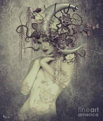 Nudes Digital Art - Sweet Moon Face by Ali Oppy