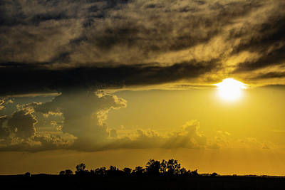 Photograph - Sweet Nebraska Crepuscular Rays 002 by NebraskaSC