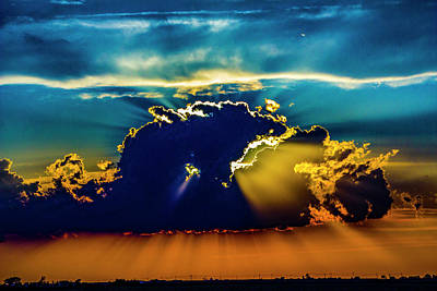 Photograph - Sweet Nebraska Crepuscular Rays 006 by NebraskaSC