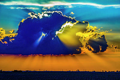Photograph - Sweet Nebraska Crepuscular Rays 009 by NebraskaSC