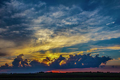 Photograph - Sweet Nebraska Crepuscular Rays 014 by NebraskaSC