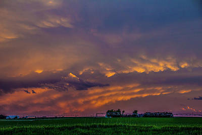 Photograph - Sweet Nebraska Crepuscular Rays 015 by NebraskaSC