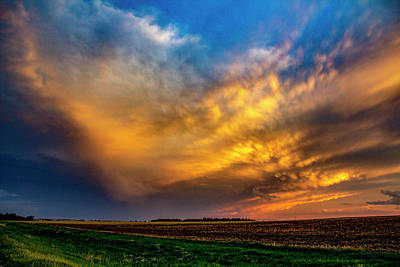 Photograph - Sweet Nebraska Crepuscular Rays 016 by NebraskaSC