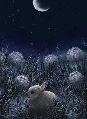 Digital Painting - Sweet Night by Veronica Minozzi
