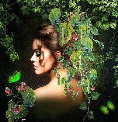 Erotica Mixed Media -  Sweet Pea 002 by G Berry