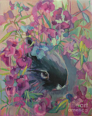 Vine Painting - Sweet Pea by Kimberly Santini
