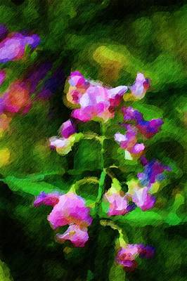 Digital Art - Sweet-pea Kinda Feeling by David Lane