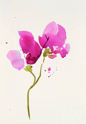 Painting - Sweet Peas 57-1 by Lynne Furrer