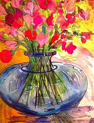 Painting - Sweet Peas by Esther Woods