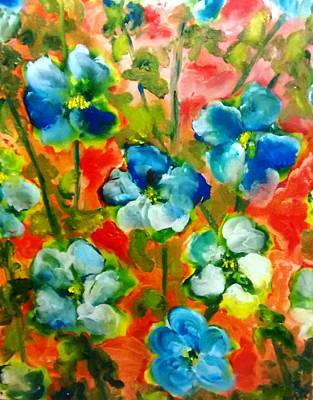 Painting - Sweet Peas From Japan by Patricia Taylor