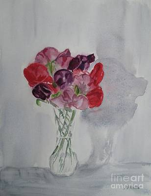 Painting - Sweet Peas by Martin Howard