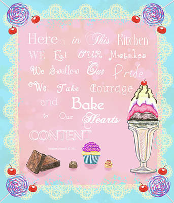 Sweet Philosophy  Art Print by Heather Stinnett