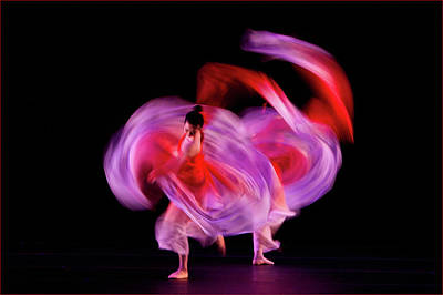 Colorful People Abstract Royalty Free Images - Sweet Plum Dance Royalty-Free Image by Janet Chung