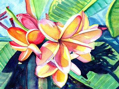 Painting - Sweet Plumeria 2 by Marionette Taboniar