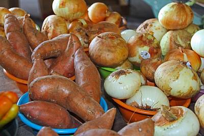 Photograph - Sweet Potatoes And Onions by Michiale Schneider