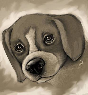 Puppy Dog Eyes Painting - Sweet Puppy by Veronica Minozzi