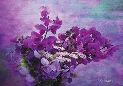 Photograph - Sweet Purple Bouquet by Karo Evans