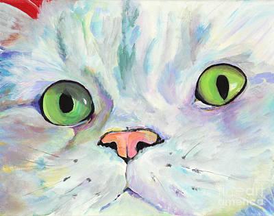 Sweet Puss Art Print by Pat Saunders-White