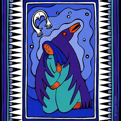 Brilliant Painting - Sweet Raven by Angela Treat Lyon