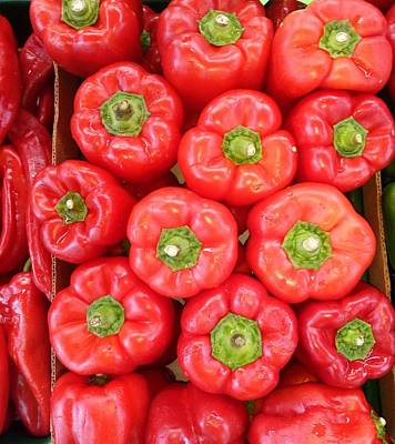 Photograph - Sweet Red Peppers by Mudiama Kammoh