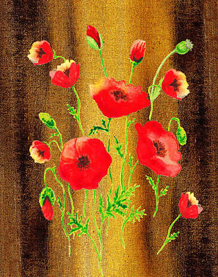 Painting - Sweet Red Poppies Collage by Irina Sztukowski