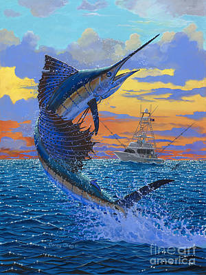 Sailfish Painting - Sweet Release by Carey Chen