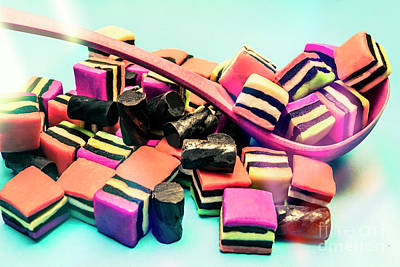 Licorice Photograph - Sweet Scoop Of Liquorice Allsorts Lollies by Jorgo Photography - Wall Art Gallery