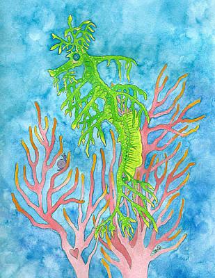 Mixed Media - Sweet Sea Dragon by Debi Hammond