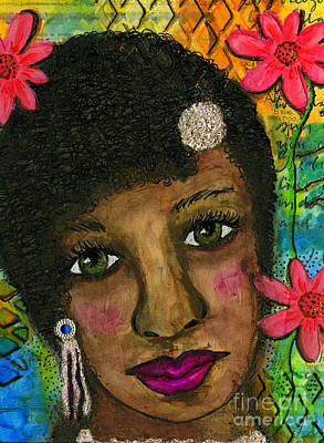 Painting - Sweet Sistah Girl by Angela L Walker