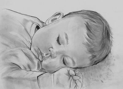 Drawing - Sweet Slumber by Barb Baker