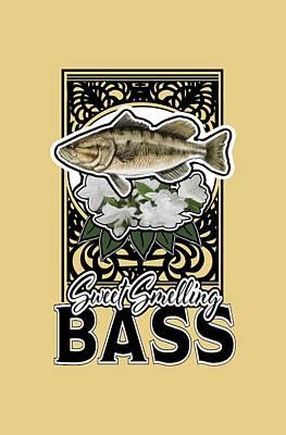 Sweet Smellin Bass Art Print