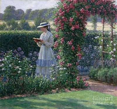 Rose Garden Painting - Sweet Solitude by Edmund Blair Leighton
