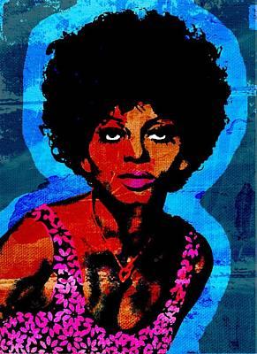 Diana Ross Painting - Sweet Soul Sista 2 by Otis Porritt