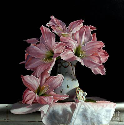 Amaryllis Painting - Sweet Star Amaryllis by Larry Preston