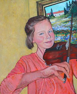 Painting - Sweet String Serenade by Tom Roderick