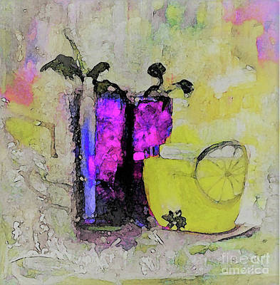 Digital Art - Sweet Summer Drinks Painting by Lisa Kaiser