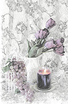 Candlelight Mixed Media - Sweet Summer Moments by Sherry Hallemeier