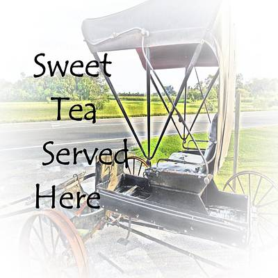 Horse And Buggy Mixed Media - Sweet Tea Served Here by Eloise Schneider